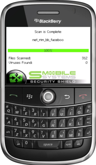 Image: Security software on BlackBerry