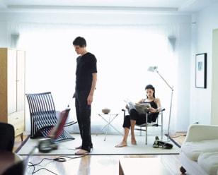 Image:man vacuuming