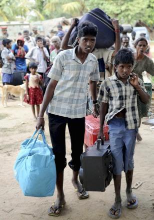 Image: Sri Lankan ethnic Tamil civilians