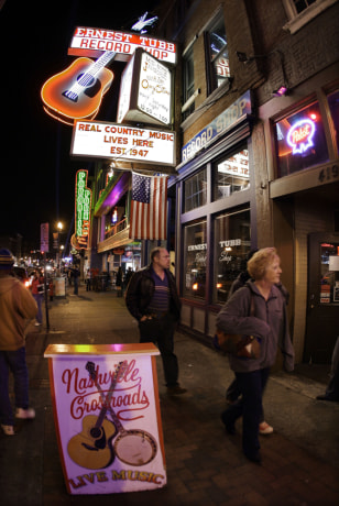 Image: Honky-tonks on Broadway in Nashville, Tenn.