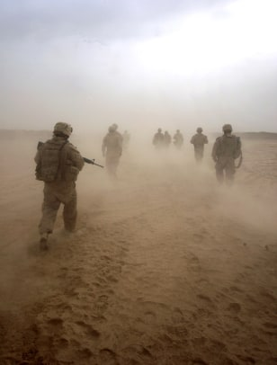 Image: U.S. Marines on operations in remote southwest Afghanistan