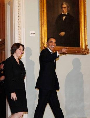 Image: Barack Obama, Debby Klobuchar
