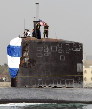 Image: Damaged USS Hartford