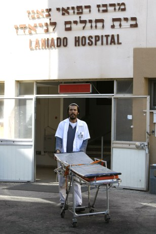 Image: A medic at Israel's Laniado hospital