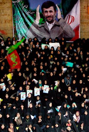 Image: Iranian President Mahmoud Ahmadinejad campaign rally