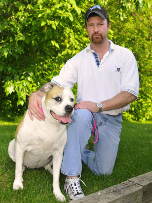 Image: Scott Seymour and his 9-year-old American Bulldog, Brittney.