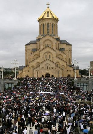 Image: Mass protest in Tbilisi, Georgia