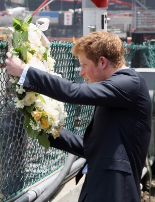 Image: Prince Harry at the World Trade Center site