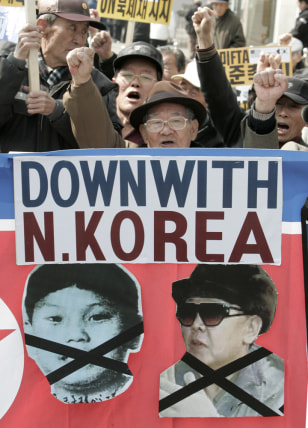 Image: South Korean protesters