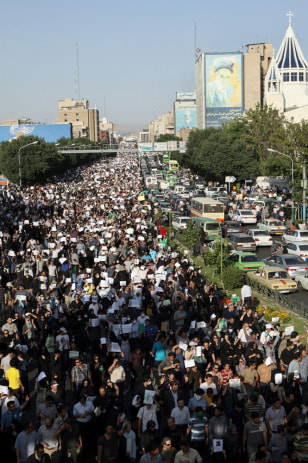 Image: Rally in Tehran, Iran