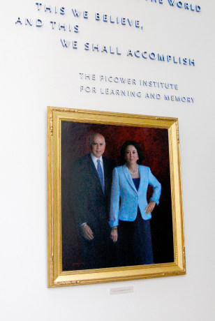 Image: Jeffry Picower and his wife Barbara in picture at Picower Institute