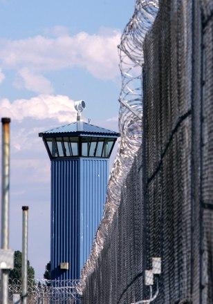 Image: Guard tower of a Sacramento prison