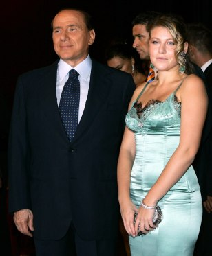 Image: Silvio Berlusconi arrives with his daughter Barbara