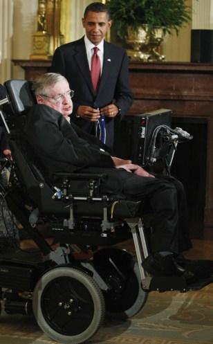 Image: Stephen Hawking and Barack Obama