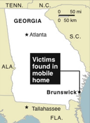Image Map Locates Brunswick Georgia