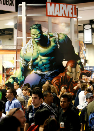 Image: Hulk looms over the crowd at Comic-Con