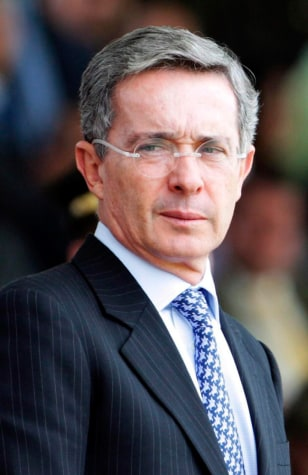 Image: Colombian President Alvaro Uribe
