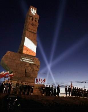 Image: WWII ceremony in Gdansk, Poland