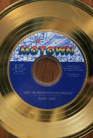 Image: Motown gold record