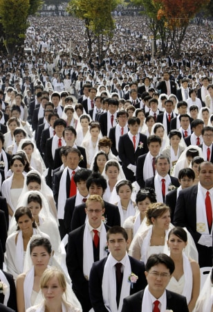 Image: Mass wedding ceremony in South Korea
