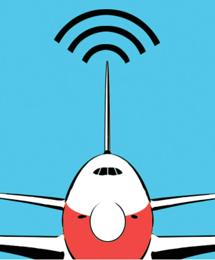 Image: In-flight Internet service