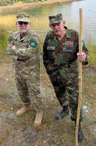 Image: Ray Southwell and Norm Olson, members of the Alaska Citizens Militia