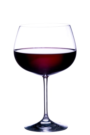 Image: Glass of red wine