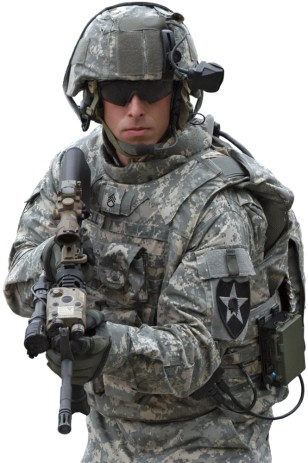 Image: Soldier wearing Land Warrior system