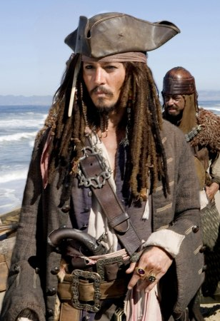 "Image: Johnny Deep in ""Pirates of the Caribbean"""