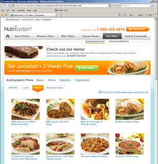 Nutrisystem's meal delivery plan offers 150 meals, snacks and desserts to choose from.