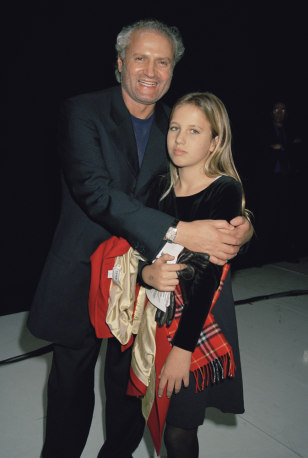 Image: Fashion designer Gianni Versace with his niece Allegra