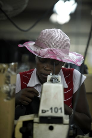 Image: DKDR Haiti garment assembly factory
