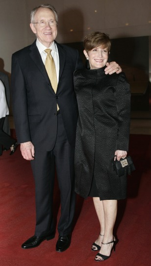 Image: Harry Reid and wife Landra Gould