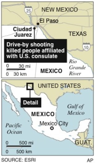 Fbi No Evidence Us Victims Targeted World News Americas - Us-consulates-in-mexico-map