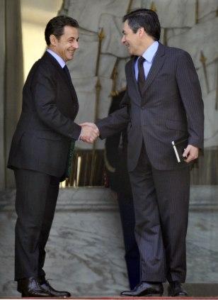 Image: Nicolas Sarkozy, Francois Fillon