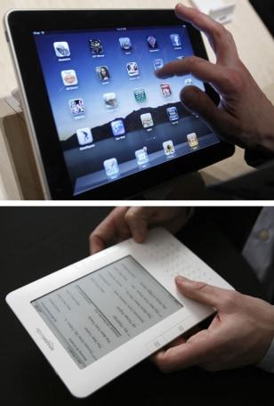 Image: Apple iPad, Amazon Kindle
