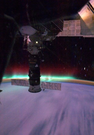 Image: Space station aurora