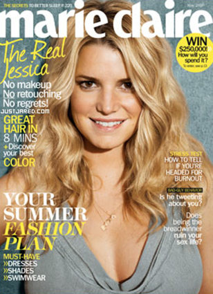 Image: Jessica Simpson on cover of Marie Claire