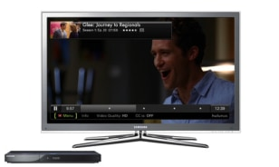 Image: Samsung TV and Blu-ray player with Hulu service