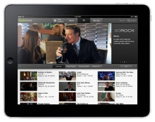 Image: iPad showing Hulu