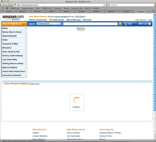 Image: Amazon site with blank spaces