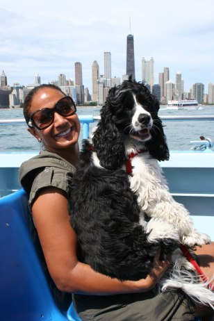 Image: Taking the dog on a sight-seeing cruise
