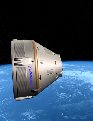 Image: Boeing space capsule artist's rendition