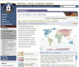 Image: CIA World Factbook screenshot