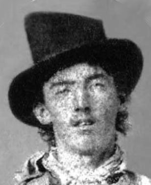 Image: William Bonney, aka Billy the Kid, circa 1880.