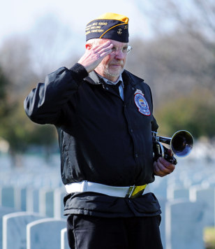 Image: Jim McGee, a member of the Fort Snelling Memorial Rifle Squad