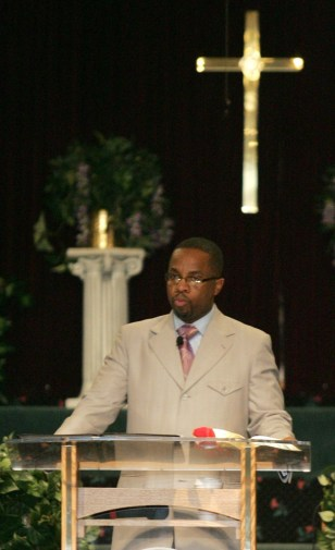Image: Pastor Cedric Miller of Living Word Christian Fellowship