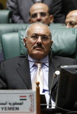 Image: Yemeni President Ali Abdullah Saleh