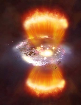Image: Artist's rendition of burst of star formation