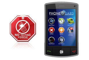 Image: PhoneGuard's Drive Safe software